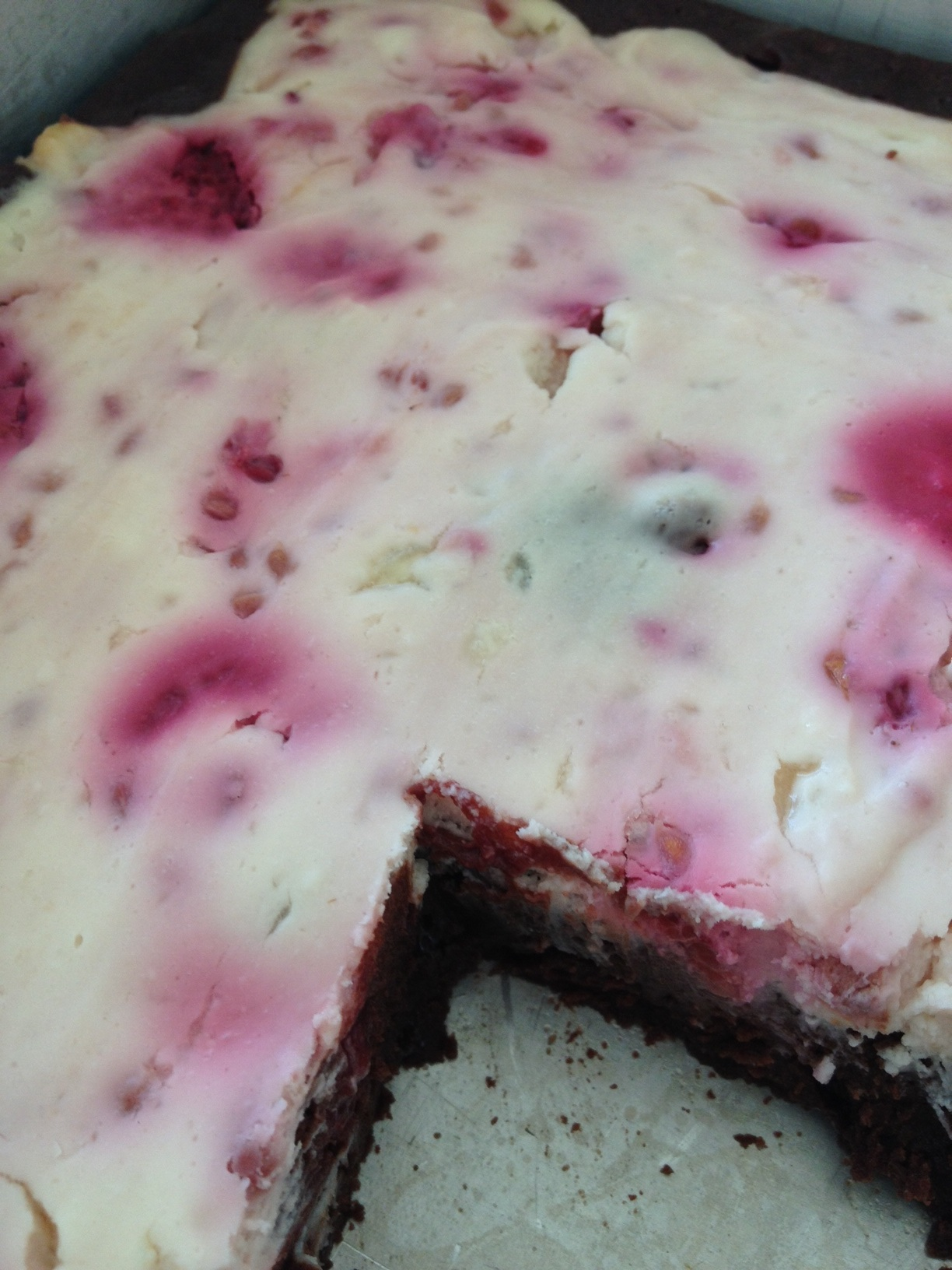 Dark Chocolate Brownies With Raspberry Goat Cheese Swirl Recipes ...